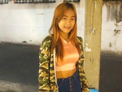 Shy Thai Bimbo with Colored Hair Enjoys Sex